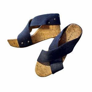 Lucky Brand Cork Wedge Sandals